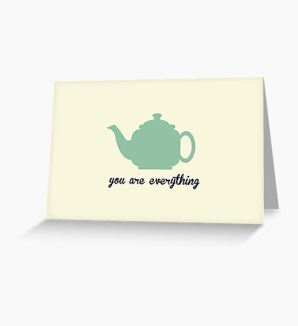 The Office Tea Pot  Greeting Card