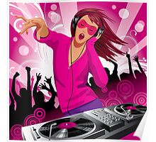 Beautiful DJ girl Poster