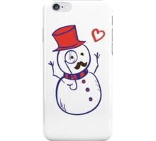 Hipster Snowman iPhone Case/Skin