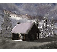 Winter Cabin 2 Photographic Print