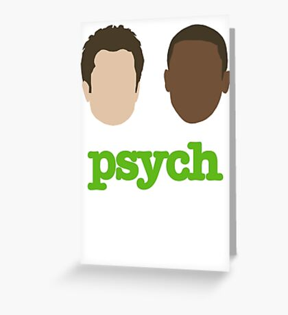 Faces of Psych Greeting Card