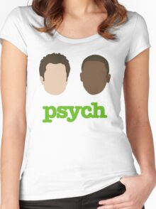 Faces of Psych Women's Fitted Scoop T-Shirt