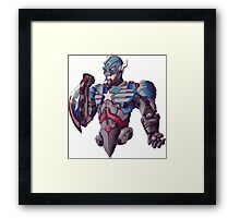 Ultron cross Captain America - Colour Framed Print