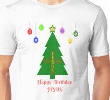 HAPPY BIRTHDAY JESUS CHRISTMAS TREE T-SHIRT Unisex T-Shirt