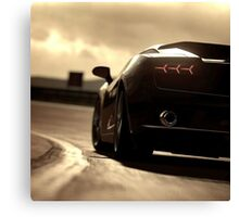 Black sports car goodies set Canvas Print