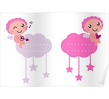 Cute little angels : Collection for christmas  Poster
