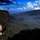 Blue Mountains National Pass - Into The Blue  by Ian Mooney