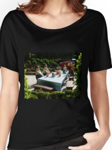 Alice and The Mad Hatter's Tea Party Women's Relaxed Fit T-Shirt