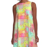 Teddy Bear A-Line Dress