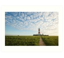 Happisburgh Lighthouse, Norfolk, UK. Art Print