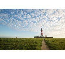 Happisburgh Lighthouse, Norfolk, UK. Photographic Print