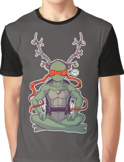 TMNT Reindeer Mikey Graphic T-Shirt