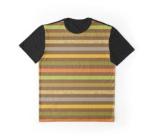 Craft Paper Fall Color Stripes Graphic T-Shirt