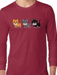 Ginger, Grey & Black Long Sleeve T-Shirt