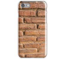 Vintage red brick wall texture background iPhone Case/Skin