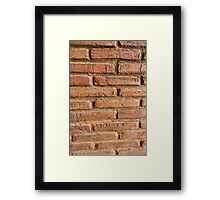 Vintage red brick wall texture background Framed Print