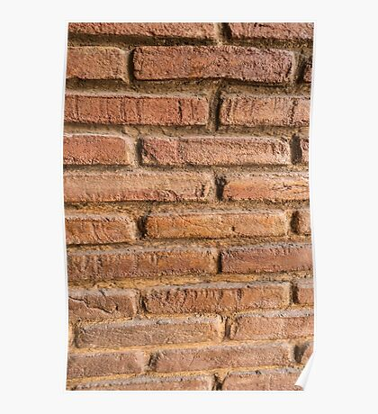 Vintage red brick wall texture background Poster
