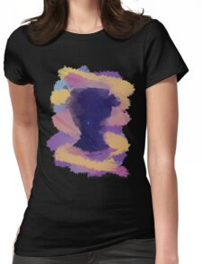 Mary Poppins Starry Chalk Silhouette Womens Fitted T-Shirt
