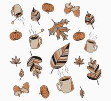 Fall Pattern One Piece - Short Sleeve