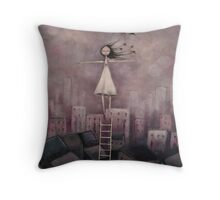 Escaping the rat race Throw Pillow