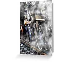 Steam Railway Wheels Greeting Card