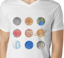 Planets Mens V-Neck T-Shirt