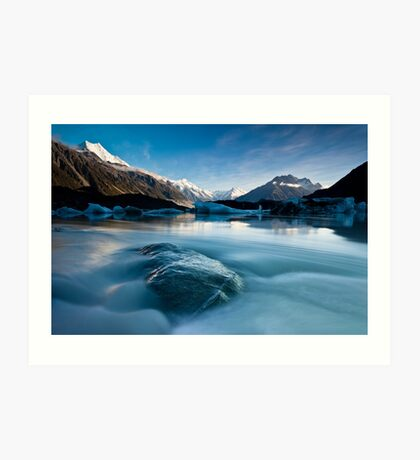 Tasman Glacier Lake - New Zealand Art Print