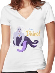 I Am Divine Women's Fitted V-Neck T-Shirt
