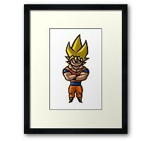 The Golden Dragon Warrior Framed Print