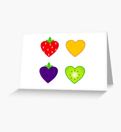 Fresh fruit for Valentine's day Greeting Card