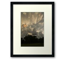 Sky Painting - Mammatus Clouds After A Storm Framed Print