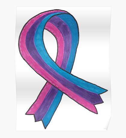 Bisexual Awareness Ribbon Poster