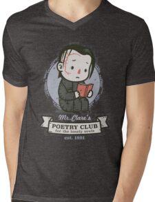 mr clares poetry club  Mens V-Neck T-Shirt