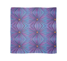 Abstract Hand Drawn Flower Purple Blue Repeat Pattern Scarf