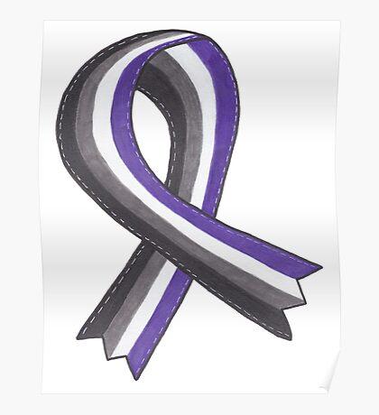 Asexual Awareness Ribbon Poster