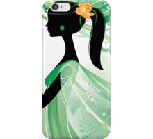 Girl in green iPhone Case/Skin
