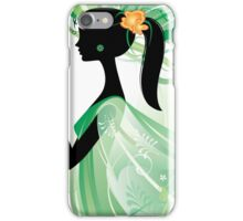Girl in green iPhone Case/Skin