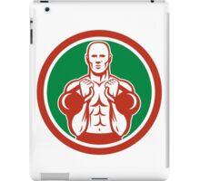 Weightlifter Lifting Kettlebell Circle Retro iPad Case/Skin