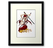 Erza Scarlet Framed Print