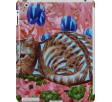 Pink and Blue Cat iPad Case/Skin
