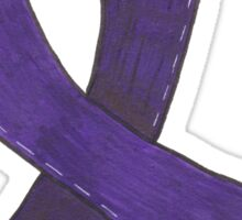 Dark Purple Awareness Ribbon Sticker
