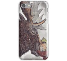 Hairy Christmoose!  iPhone Case/Skin