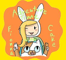 fionna and cake so cute - adventure time by ferteban