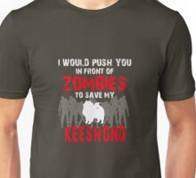 Front Of Zombies Keeshond Unisex T-Shirt