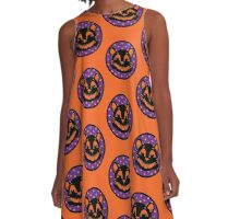 Spooky Cat A-Line Dress