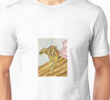 Watercolor Dog and Chair by Pandora Fox Art Unisex T-Shirt