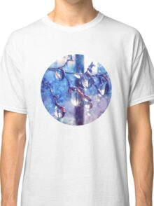 Crystal water drops on a branch Classic T-Shirt