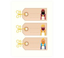 Three wise man blank cards for your present Art Print