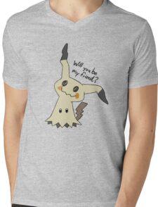 Will you be my friend? Mimikyu Mens V-Neck T-Shirt