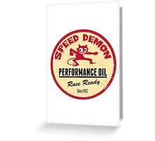 Hot Rod Retro Decal Greeting Card